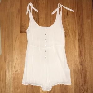 Urban Outfitters White Romper